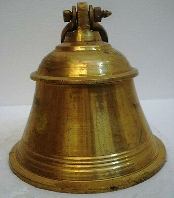 BRASS Bell - Marine / Religion / Spiritual - Height: 8.75 - Weight: 2 (1303)