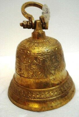 BRASS Bell - Marine / Religion / Spiritual - Height: 8.25- Weight: 1.595 (1353)