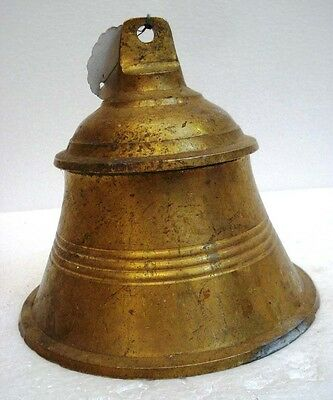 BRASS Bell - Marine / Religion / Spiritual - Height: 6.75 - Weight: 1.8 (1294)