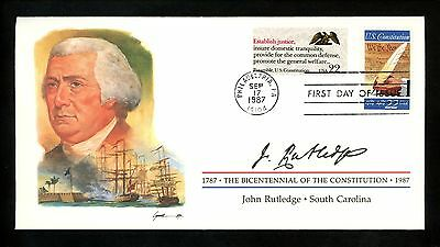US FDC #2360 Constitution Bicentennial Signers 1987 South Carolina SC J Rutledge