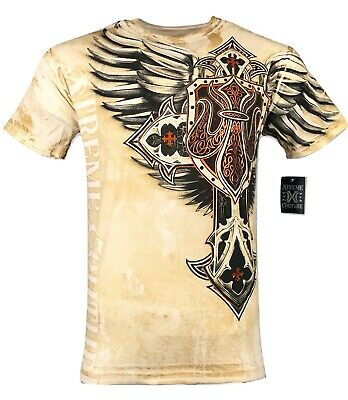 XTREME COUTURE by AFFLICTION Men T-Shirt LOCKDOWN Tatto Biker MMA UFC S-4X $40