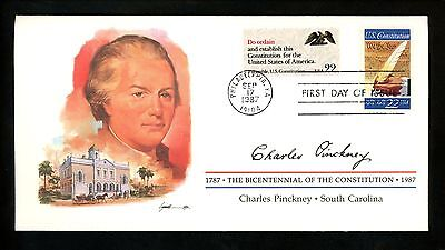 US FDC #2360 Constitution Bicentennial Signers 1987 South Carolina SC C Pinckney