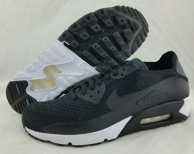 official photos 26156 4d195 NIKE AIR MAX 90 Ultra 2.0 Flyknit Triple Black White 875943-004 Mens Size  9.5