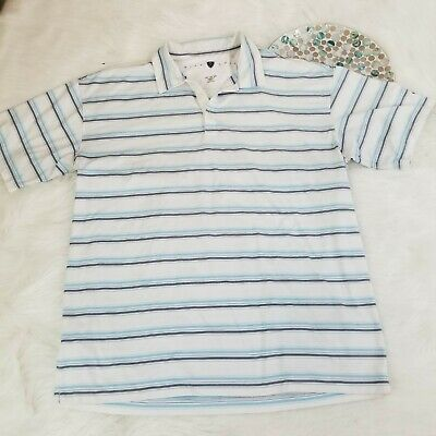 2fcbc0fe2 Nike Golf Mens Polo Shirt Size XXL Striped Short Sleeve 1 4 Button Dry Fit