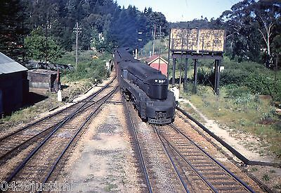 South Australian Railways Steam..527 Coming into a station on a Passenger Train