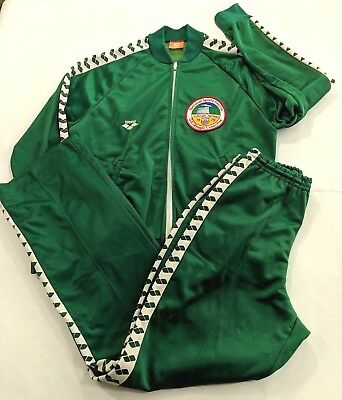 Arena Tracksuit National Sports Festival US Olympic Committee 1979 Green Vintage