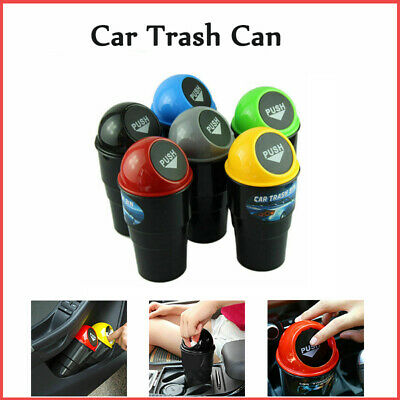 NEW Car Trash Can Garbage Mini Dust Bin Coin Holder Ashtray Cup Home Office  AU