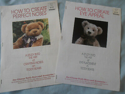 2 x Multi Page Fact Sheets 'Crafting Noses' and 'Eye Placement' On Teddy Bears