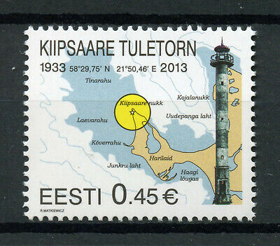 Estonia 2013 MNH Kiipsaare Lighthouse 1v Set Lighthouses Architecture Stamps