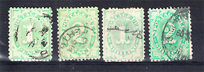 Postage Dues 1904-12 1D + 2D + 1/- + 2/- Used (K61)