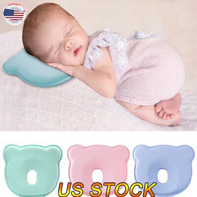 Baby Pillow Prevent Flat Head Memory Foam Infant Cotton Cushion Sleeping Support