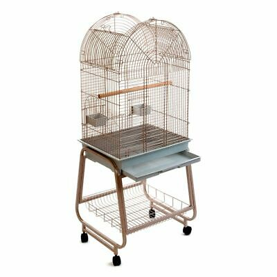 Large Bird Cage Parakeets Small Parrots Antico Old Rose Open Top Roof 3 Door