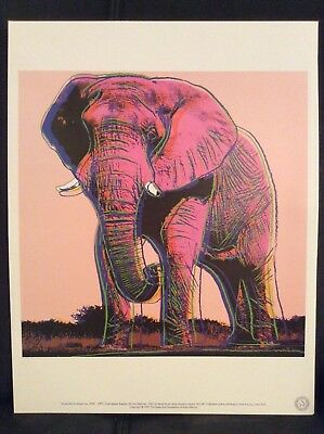 Andy Warhol Foundation Ltd.Edition Offset Lithographie  African Elephant