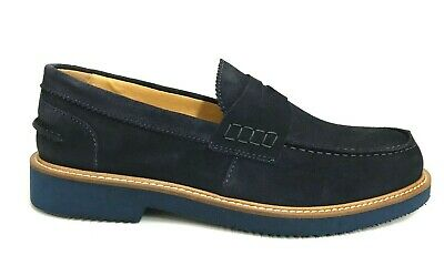 SCARPE UOMO EXTON Shoes Mocassini College Casual 9102 Blu
