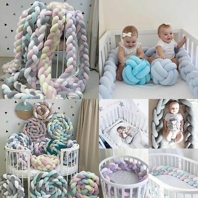 Unisex Bed Bumper Polyester Newborn Baby Pure Weaving Plush Kids Cot Protector