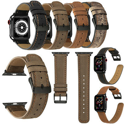 Genuine Leather Watch Band Strap Retro Bracelet For Apple iWatch 4 2 1 38/42mm