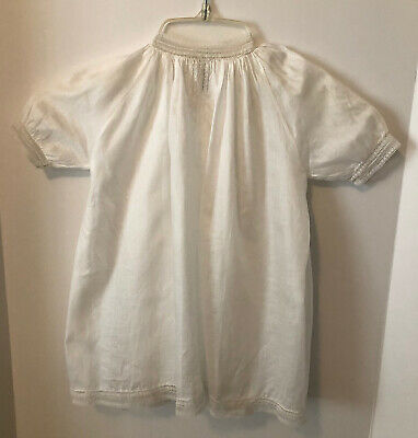 ViNTAGE 1940's BABY DRESS Cotton Lace Embroidery HAND STITCH Christening BEAUTY