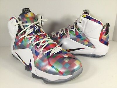 size 40 fdd86 1803d Nike Lebron 12 XII EXT Finish Your Breakfast White Fruity Pebbles Mens Size  8.5