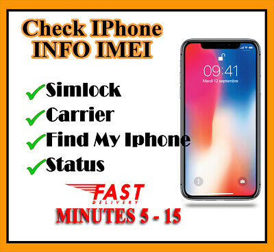 iPhone IMEI Check Simlock Carrier Find My Phone iCloud Status Checker Super Fast