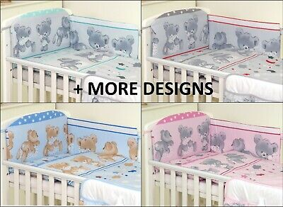 Baby Bedding Set fit Cot 120x60cm or Cot Bed 140x70 TEDDY PATTERN-BABY GIRL BOY