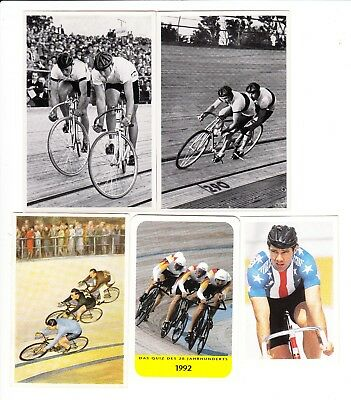 Track Cycling : European sports card group of 8 cards