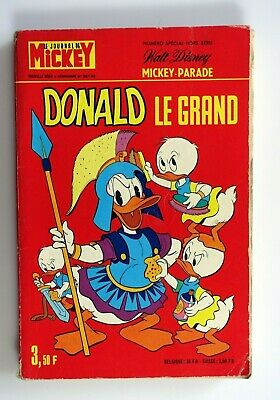 Disney Mickey  parade bis N° 1081  bis 1973 Donald le grand vintage original EO