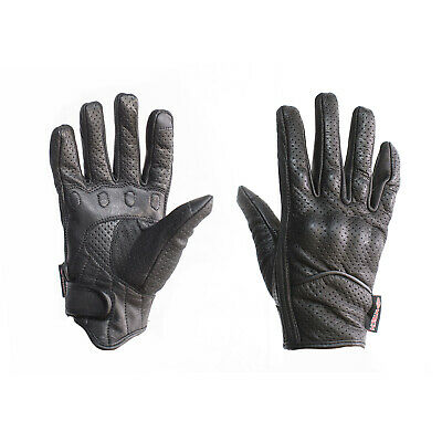 MTECH Motorbike Short Style Summer Gloves A Grade Genuine Leather Vented Gloves