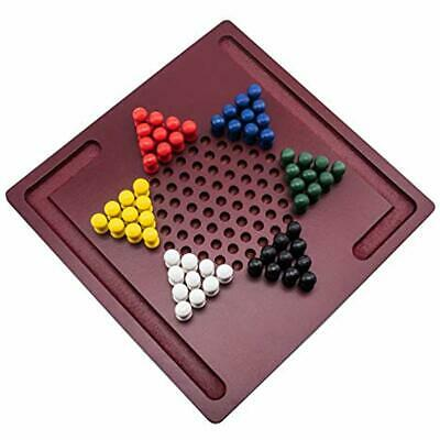 Chinese Checkers Board Game By Mini Wooden Travel Set With Coloured 2DAY SHIP