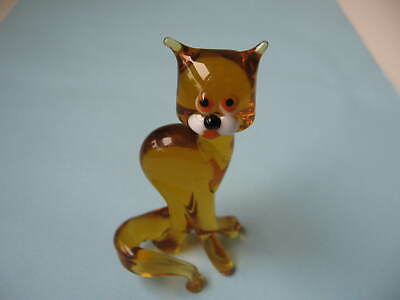 Chat en verre filé - French Cat glass hand made