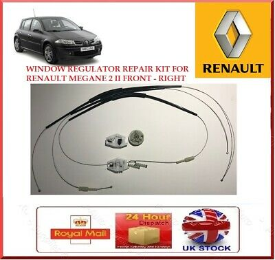 REPAIR CLIPS SET Megane2 02-08 4//5 DOOR FRONT RIGHT WINDOW LIFT UK DRIVER SIDE