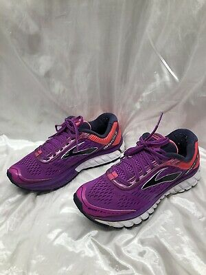 85994f7fe90 BROOKS GHOST 9 Running Shoes Black Purple Teal Women s US Size 7.5 ...