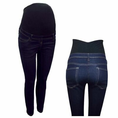 Maternity Next Over The Bump Jeggings Jeans Navy Blue 8 - 18  BM43