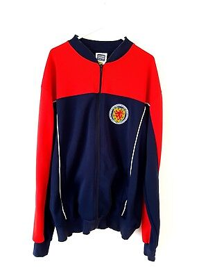 Scotland Retro Track Top Jacket. XL. Score Draw Red Adults Football Presentation