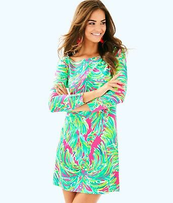 735f3764992d0c NWT Lilly Pulitzer UPF 50+ Sophie Dress 17412 Raz Berry Shady Lady Size XS