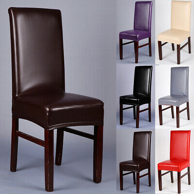 PU Leather Chair Covers Wedding Dining Chair Cover Home Slip Covers 1/4/6/10 PCS