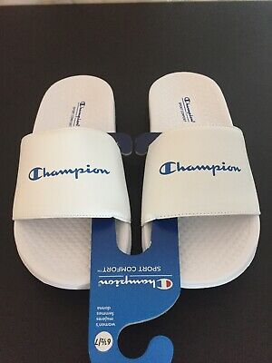 2d5f9aab47043 CHAMPION WOMEN S SLIDE Sandal White Size 6 1 2 To 7 New Without Tags ...