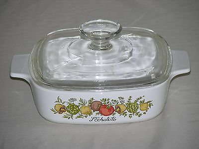Vintage Corning Ware Spice of Life 1Qt Casserole Dish A-1-B W/ Lid A-7-C