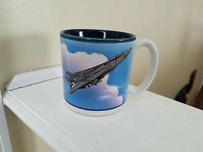 Military F-14 Tomcat Coffee Mug, Smithsonian Institute Museum Air & Space