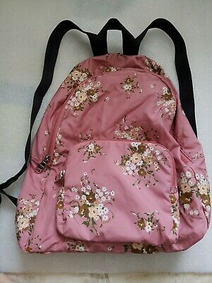 ecd3569f70ee New Nwot COACH Vintage Pink Multi Floral Print Packable Nylon Backpack  F27977