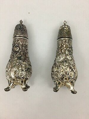 Vintage WB MFG Co C103  Silver plate Salt and Pepper Shakers