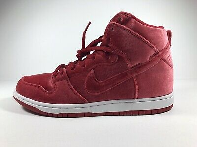 brand new a6882 17d39 Nike Dunk High Premium SB Gym Red   White Size 8.5 313171 661