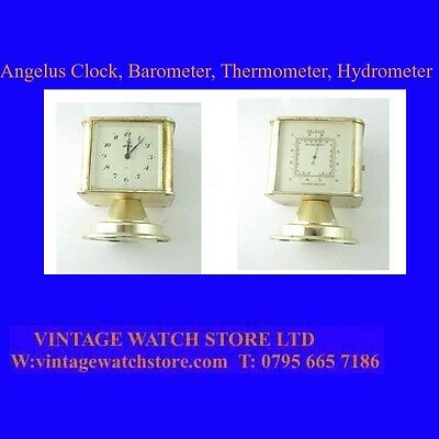 Superb Angelus  8-Day Travel Clock & Thermometer & Barometer, & Hygrometer,1940