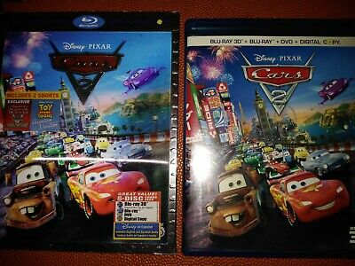 Cars 2 Blu-Ray Disney Movie 5 disc set