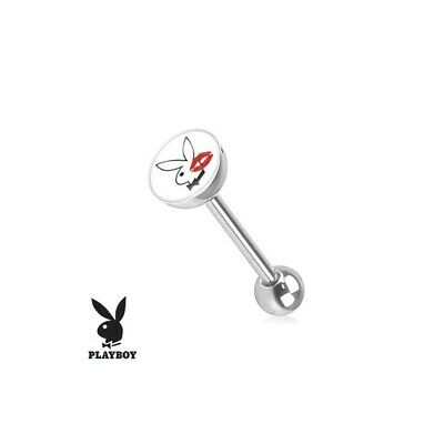Piercing langue Playboy noir Alfio