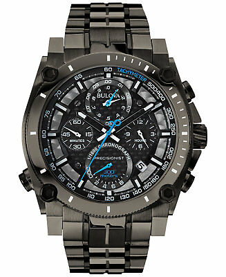 *BRAND NEW* Bulova Men's Chronograph Precisionist Gray Tone Steel Watch 98B229