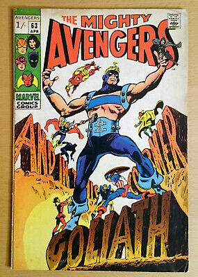 Mighty Avengers #63 April 1969 Exc. Cond