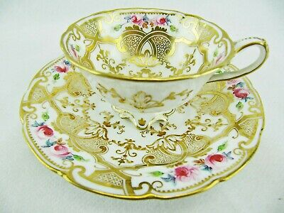 CAULDON - TEACUP AND SAUCER SET - ANTIQUE ca. 1904 - 1920