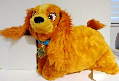 Disney Parks Lady and the Tramp Lady puppy dog Plush Pillow stuffed animal 21""