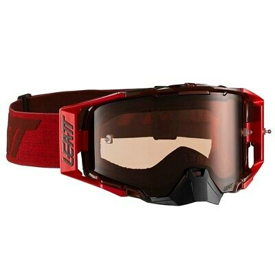 Leatt Velocity 6.5 Tear Off Goggles Ruby Red With Rose Uc Lens Motocross Mx New