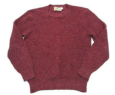VTG Mackinaw Woolens Maroon Knit Men's Sweater Adult Size X-Large Made in USA